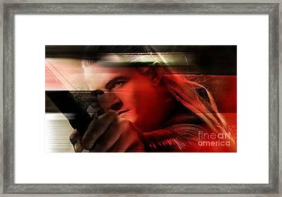 Orlando Bloom Framed Print by Marvin Blaine