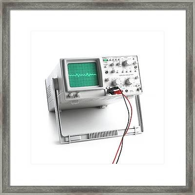 Oscilloscope Framed Print by Science Photo Library