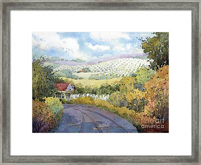 Out Santa Rosa Creek Road Framed Print by Joyce Hicks