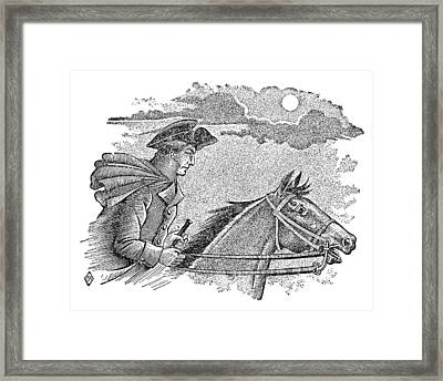 Paul Reveres Ride Framed Print by Granger