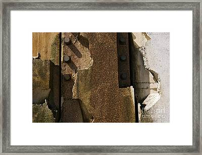 3 Peg Abstract II Framed Print by Sherry Davis