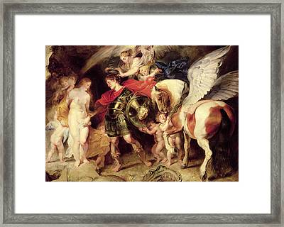 Perseus Liberating Andromeda Framed Print by Peter Paul Rubens