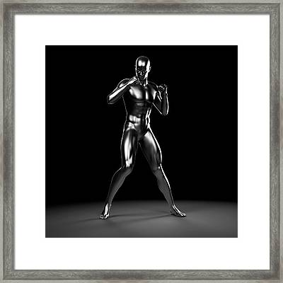 Person Boxing Framed Print by Sebastian Kaulitzki