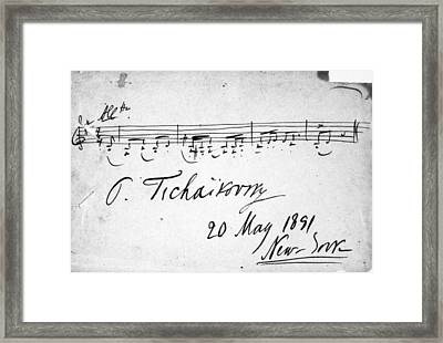 Peter Ilich Tchaikovsky (1840-1893) Framed Print by Granger