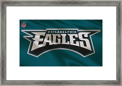 Philadelphia Eagles Uniform Framed Print by Joe Hamilton