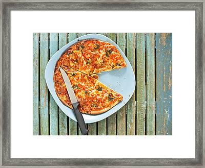 Pizza Framed Print by Tom Gowanlock