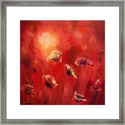 Poppies Framed Print by Gina De Gorna