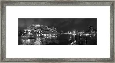 Port Of Hamburg Framed Print by Mountain Dreams