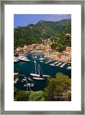 Portofino Framed Print by Brian Jannsen