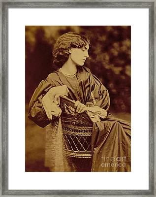 Portrait Of Jane Morris Framed Print by John Parsons
