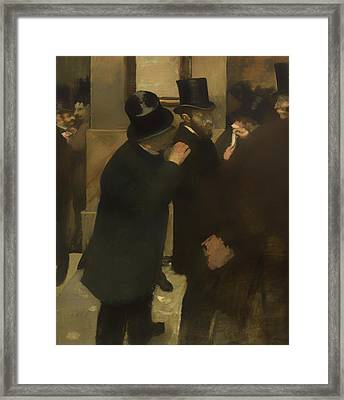 Portraits At The Stock Exchange Framed Print by Mountain Dreams