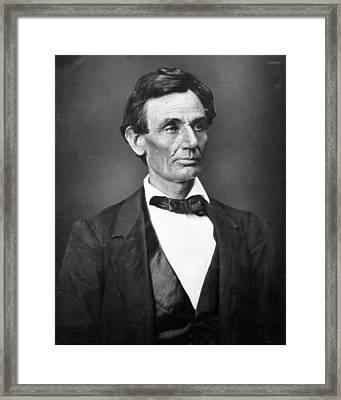 President Abraham Lincoln Framed Print by Retro Images Archive