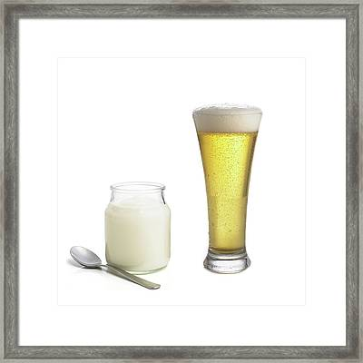 Products Of Fermentation Framed Print by Science Photo Library