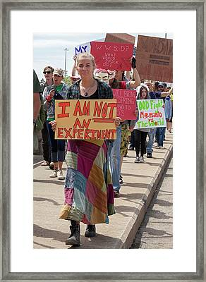 Protest Against Gm Crops Framed Print by Jim West