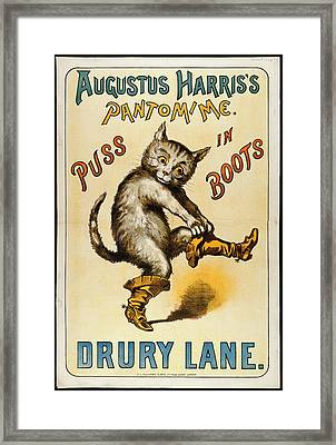 Puss In Boots Framed Print by British Library