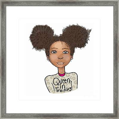 Queen In Training Framed Print by Respect the Queen