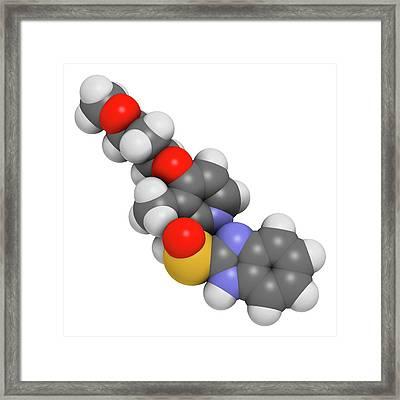 Rabeprazole Gastric Ulcer Drug Molecule Framed Print by Molekuul