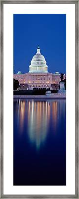 Reflection Of A Government Building Framed Print by Panoramic Images