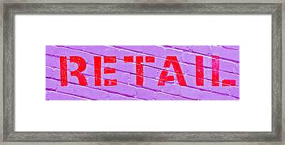Retail Sign Framed Print by Tom Gowanlock