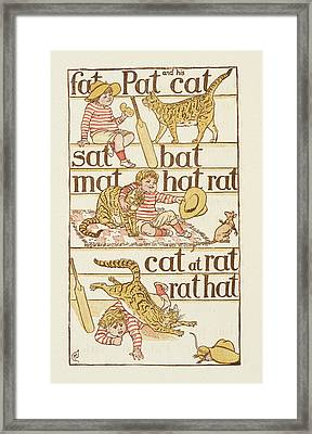 Rhyming Words Ending In The Letter T Framed Print by British Library