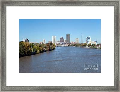Rochester New York Skyline Framed Print by Bill Cobb