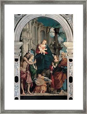 Sacchis Giovanni Antonio De Known As Il Framed Print by Everett