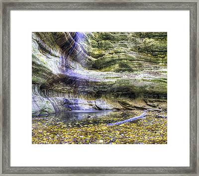 Saint Louis Canyon At Starved Rock Framed Print by Twenty Two North Photography