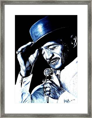 Sammy Davis Jr Framed Print by Jim Fitzpatrick
