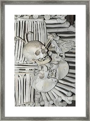 Sedlec Ossuary - Charnel House Framed Print by Michal Boubin