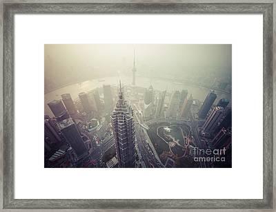 Shanghai Pudong Skyline Framed Print by Fototrav Print
