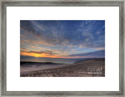 Sleeping Bear Dunes Sunset Framed Print by Twenty Two North Photography