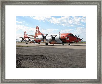 3 Slurry Bombers Framed Print by Steven Parker