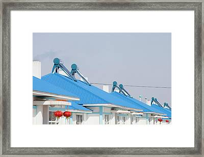 Solar Thermal Panels Framed Print by Ashley Cooper