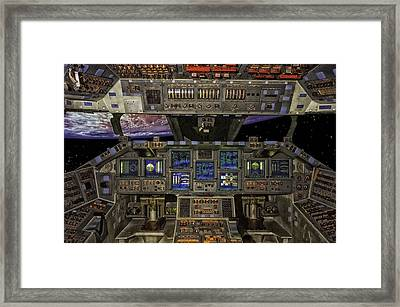 Space Shuttle Cockpit Framed Print by Mountain Dreams