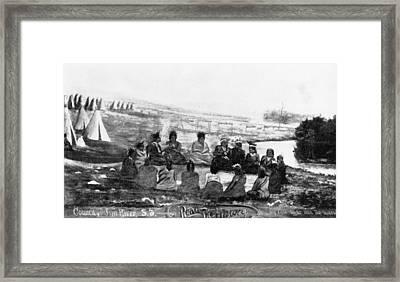 Spirit Lake Massacre, 1857 Framed Print by Granger