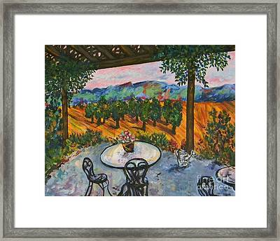 Spot To Wine And Dine Framed Print by Emily Michaud
