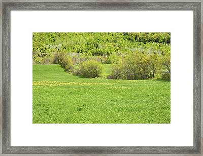 Spring Farm Landscape In Maine Framed Print by Keith Webber Jr