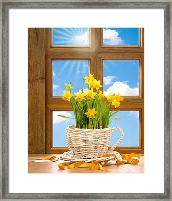 Spring Window Framed Print by Amanda Elwell