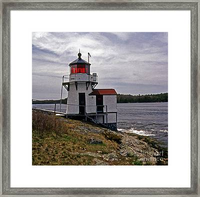 Squirrel Point Lighthouse Framed Print by Skip Willits