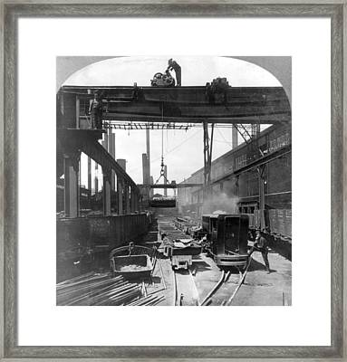 Steel Mill, C1905 Framed Print by Granger