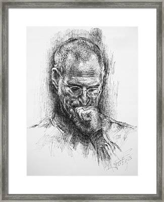 Steve Jobs Framed Print by Ylli Haruni