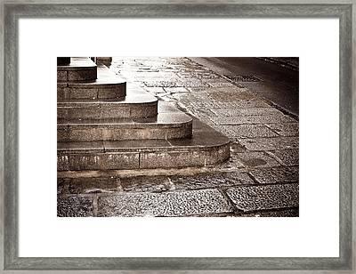Stone Steps Framed Print by Tom Gowanlock