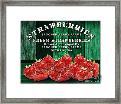 Strawberry Farm Framed Print by Marvin Blaine