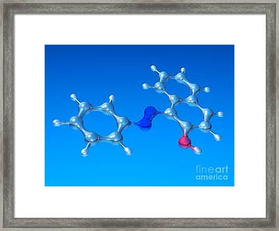 Sudan 1 Molecule Framed Print by Dr. Mark J. Winter