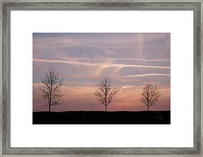 Sunset Framed Print by Mark Severn