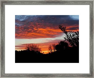 Sunset New Zealand Framed Print by Joyce Woodhouse