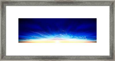 Sunset Over The Sea Framed Print by Panoramic Images
