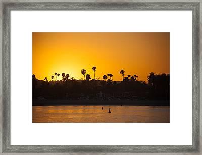 Sunset Santa Barbara Framed Print by Ralf Kaiser