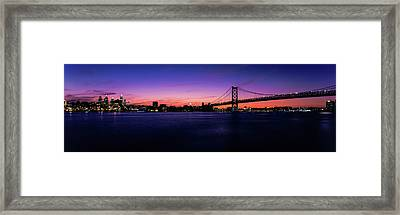 Suspension Bridge Across A River, Ben Framed Print by Panoramic Images