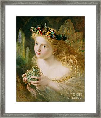 Take The Fair Face Of Woman Framed Print by Sophie Anderson